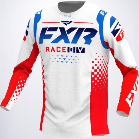 MAILLOT REVO LE MX 22-ROUGE BLANC